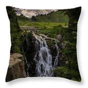 Myrtle Falls Morning Light Throw Pillow