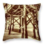 Myrtle Pier  Throw Pillow