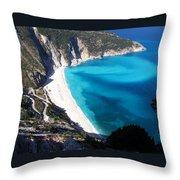 Myrtos Throw Pillow