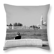 Myself And Venice Throw Pillow