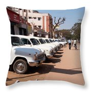 Mysore Taxis Throw Pillow