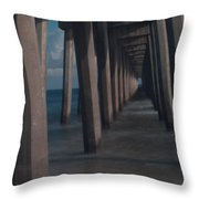 Myst Under The Pier Throw Pillow