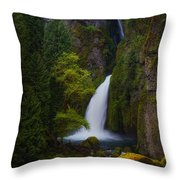Mysteries Of Wahclella Throw Pillow