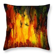 Mysterious Cave Throw Pillow