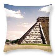 Mysterious Chichen Itza Throw Pillow