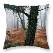 Mysterious Forest  Throw Pillow
