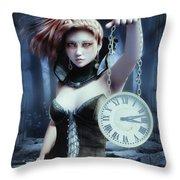 Mysterious Girl Throw Pillow