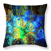 Mysterious Icons Throw Pillow