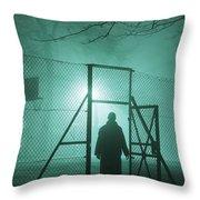 Mysterious Man At Night Throw Pillow