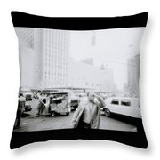 Mysterious New York Throw Pillow