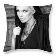 Mysterious Obsession Bw Palm Springs Throw Pillow