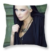 Mysterious Obsession Palm Springs Throw Pillow by William Dey