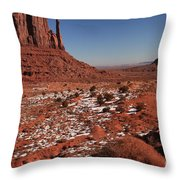 Mysterious Red Rocks Throw Pillow
