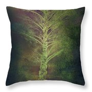 Mysterious Tree In Moonlight Throw Pillow