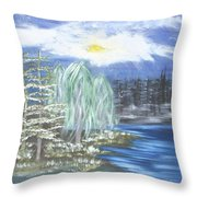 Mysterious  Trees Throw Pillow