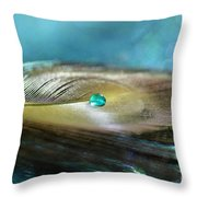 Mysterious Turquoise Throw Pillow