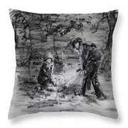 Mystery At Memorial Gardens Throw Pillow