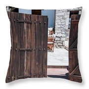 Mystery Courtyard Throw Pillow