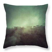 Mystery Mountain Throw Pillow