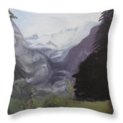 Mystery Mountains Throw Pillow