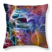 Mystery Of Light -square Version Throw Pillow