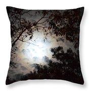 Mystery Of Moonlight Throw Pillow