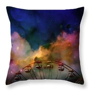 Take A Mystery Ride In The Multicolored Clouds Throw Pillow