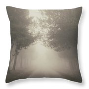 Mystery Road Throw Pillow