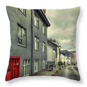 Mystery Street Throw Pillow