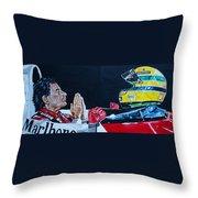 Mystic Ayrton Senna Throw Pillow