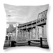 Mystic Black And White Throw Pillow