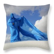 Mystic Blue 9 Throw Pillow