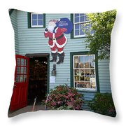Mystic Christmas Shop - Connecticut Throw Pillow