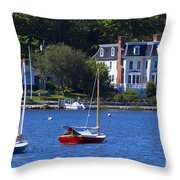 Mystic Curbside Throw Pillow
