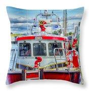 Mystic Fireboat Throw Pillow