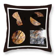 Mystic Fractures II Throw Pillow