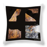 Mystic Fractures L Throw Pillow