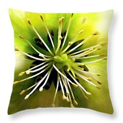 Mystic Hellebores Throw Pillow