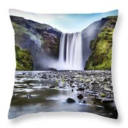 Mystic Iceland Throw Pillow