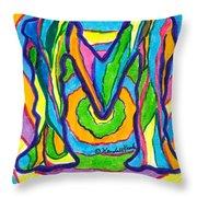 Mystic M Throw Pillow