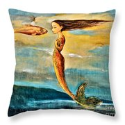 Mystic Mermaid IIi Throw Pillow