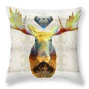 Mystic Moose Art By Sharon Cummings Throw Pillow