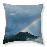 Mystic Rainbow Throw Pillow