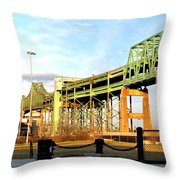 Mystic River Bridge  Throw Pillow