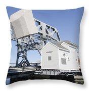 Mystic River Drawbridge Throw Pillow