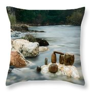 Mystic River I Throw Pillow