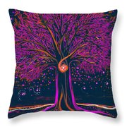 Mystic Spiral Tree 1 Pink By Jrr Throw Pillow
