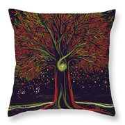 Mystic Spiral Tree Red By Jrr Throw Pillow