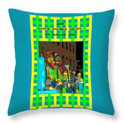 Mystic Stripers - Six Familiar Airs Poster Throw Pillow