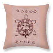 Mystic Turtle Throw Pillow